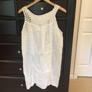 Other - White Linen Crochet Dress Or Swimsuit Coverup